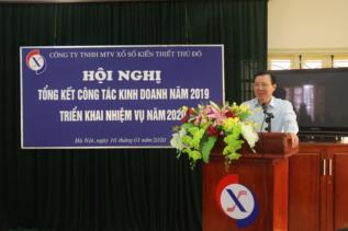 Đ/c Hoàng Mạnh Tuấn - Phó Tổng giám đốc phát biểu tại Hội nghị tổng kết năm 2019