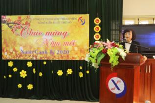 Đ/c Nguyễn Thị Thủy - Chủ tịch Công ty chúc tết CBNV Công ty năm 2020