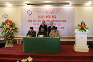 Các đơn vị ký giao ước thi đua năm 2021