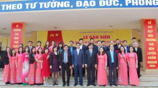 Lễ gắn biển công trình xây dựng từ nguồn thu XSKT tại trường THCS Đồng Quang - Quốc Oai Năm 2018