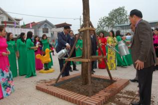 Lễ gắn biển công trình xây dựng từ nguồn thu XSKT tại trường mầm non Đông Hội, Đông Anh 1/2019