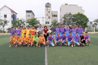 Giao hữu bóng đá giữa Công ty TNHHMTV Xổ số KTTĐ và đội Phòng cháy chữa cháy - CNCH