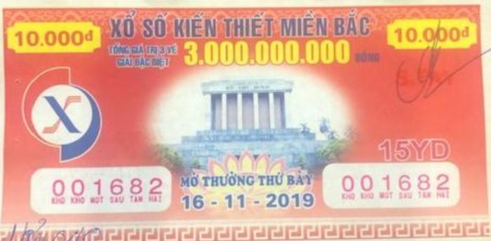 Tin trúng thưởng giải đặc biệt xổ số truyền thống trị giá 1 tỷ 40 nghìn đồng mở thưởng ngày 16/11/2019