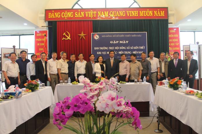 Gặp mặt Ban thường trực Hội đồng Xổ số Kiến thiết khu vực Miền Bắc - Miền Trung - Miền Nam