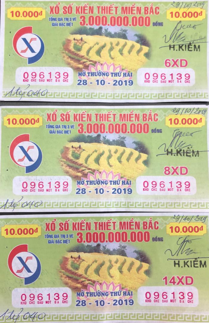Chúc mừng khách hàng may mắn trúng giải đặc biệt XSKT miền Bắc trị giá 3 tỷ đồng, mở thưởng ngày 28/10/2019